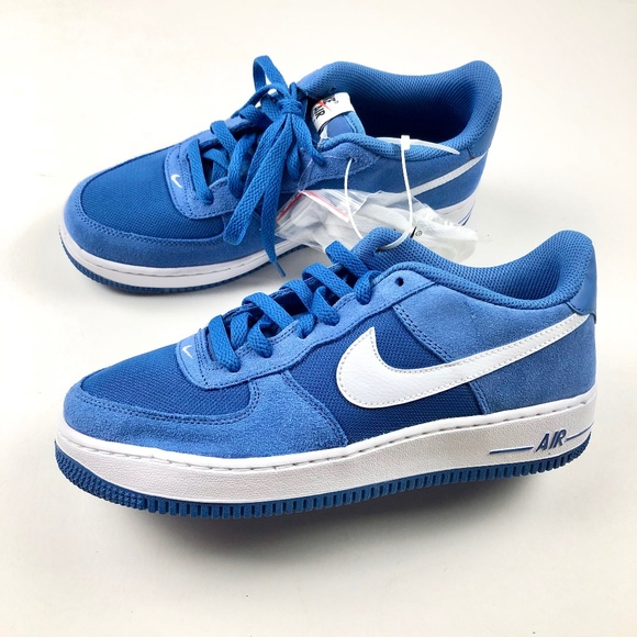 Nike Air Force One Blue Suede Sneakers Size 8.5 NW NWT